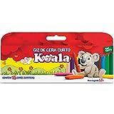 Lapis De Cera Curto 15 Cores Koala Pacote com 12 Delta, Multicor