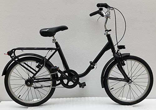 Bici Pieghevole Vintage Graziella 20'' Colore Nero Luci LED Anteriori e Posteriori