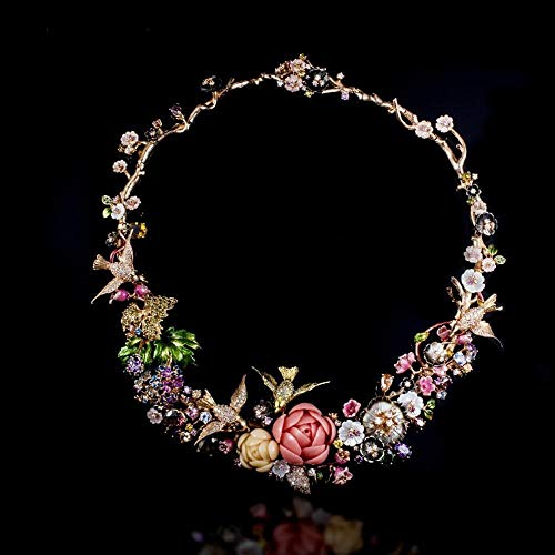 Lnyy Emaille Perlmutt Halskette S925 Silber Persönlichkeit Kunst Farbe literarische Fan Halskette Emaille Halskette Schmuck