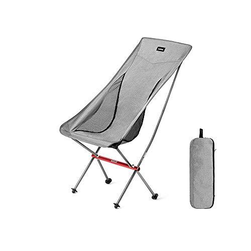 [ZZHQ] Folding Chair, Ultra-light Aluminum Alloy Outdoor Camping Portable Folding Ultra-light Compact Chair Recliner, Medium Backrest, for Backpacking / Hiking / Picnic / Fishing / Beach / Garden