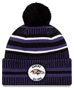 New Era Baltimore Ravens 2019 Sideline Home Pom Sport Knit Hat