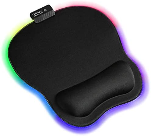 Qudodo RGB Mouse Pad with Wrist Support Ergonomic Mouse Pad with Memory Foam Wrist Rest Support product image