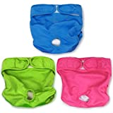 Best Dog Diapers - SunGrow Washable Dog Diapers, Fits 9-15 Inches Waist Review