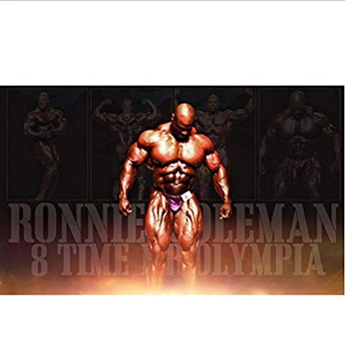 MKAN Ronnie Coleman - Bodybuilder Mr. Olympia Versus Arnold Art Poster, Canvas Wall Art Picture, For Home Decor Canvas Painting40X60Cm