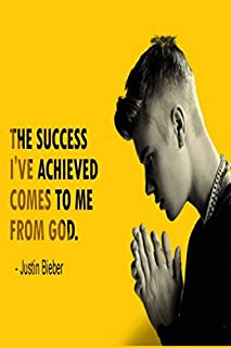 Justin Bieber: The success I've achieved comes to me from God | Cute notebook journal fans gift