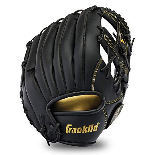 Franklin Sports Baseball and Softball Glove - Field Master - Baseball and Softball Mitt - Adult and Youth Glove - Right Hand Throw - 11