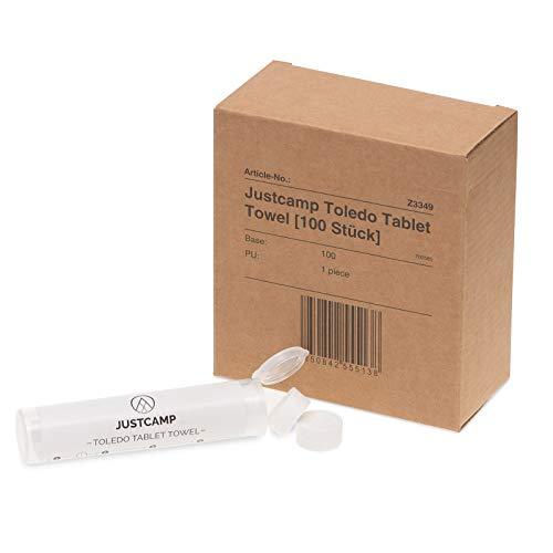 JUSTCAMP Toledo Tablet Towel Tabletten-Reinigungstücher [100 Stück]