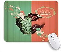 ZOMOY マウスパッド 個性的 おしゃれ 柔軟 かわいい ゴム製裏面 ゲーミングマウスパッド PC ノートパソコン オフィス用 デスクマット 滑り止め 耐久性が良い おもしろいパターン (左心から右脳へ)