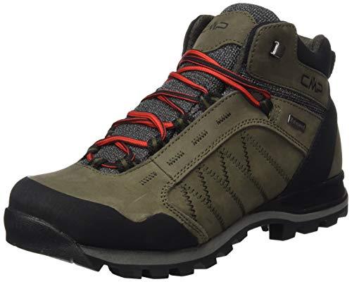 CMP – F.lli Campagnolo Thiamat Mid Trekking Shoe WP, Stivali da Escursionismo Alti Uomo, Braun Wood P961, 47 EU