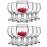 Alcohol Cage® 12er-Set Elegant Gläser 40 ml 4cl für Vodka Tequila Likör Shots mit Füßen spülmaschinenfest Glas Shotglas Pinnchen Party Stamperl Setzen Pinneken Sechs 12er Trinkgläser Wodka, 2x6