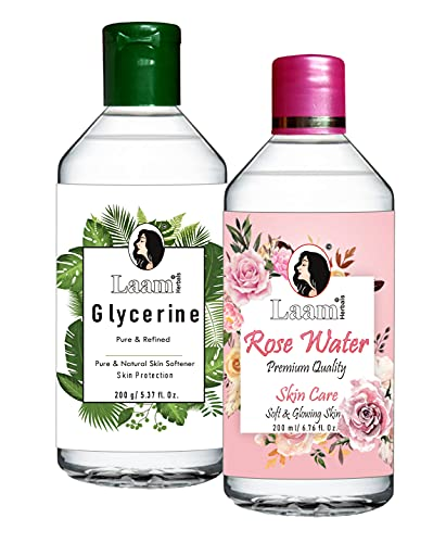 Laam Pure Rose Water & Refined IP Glycerine (200 ml + 200 g)