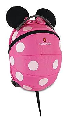 LittleLife Pink Minnie Mouse Disney Children's Backpack Mochila con riendas de seguridad, rosa, Kids Unisex niños de LittleLife