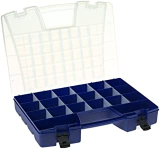 Akro-Mils 6318 Plastic Portable Hardware and Craft Parts Organizer, Large, Blue