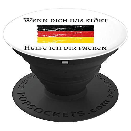 Patriotismus ist kein Verbrechen Starkes Deutschland Flagge - PopSockets Ausziehbarer Sockel und Griff für Smartphones und Tablets