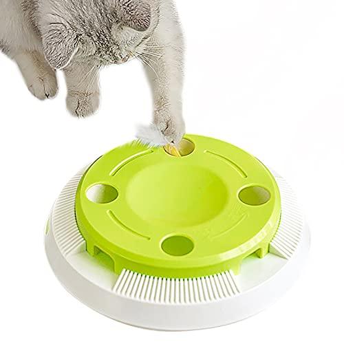 PETTOM Giocattolo Interattivo per Gatti Automatico Gioco Elettronico per Gatti Intelligente Giochi Gatto con Piuma