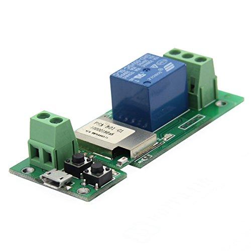 ILS - Interruttore Switch USB 5V 1 Canale WIFI Smart Wireless Controllo remote WiFi Wireless per la propria abitazione tramite cellulare con l'app Ewelink compatibile con Alexa, Echo e Google,