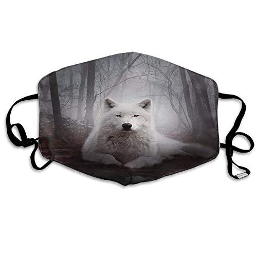 Masken, Mundschutz, Sturmhaube, Staubdichter Schal, Halloween Forest Wolf Adult Printing Schutzmode GesichtsMaskene austauschbarem Filter Polyester
