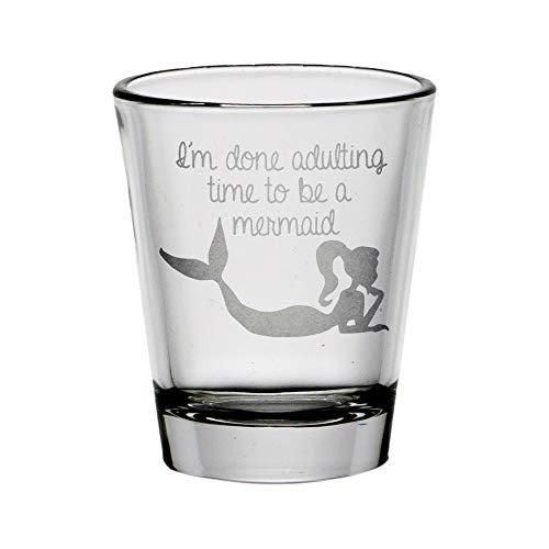 Adulting Mermaid Shot Glass