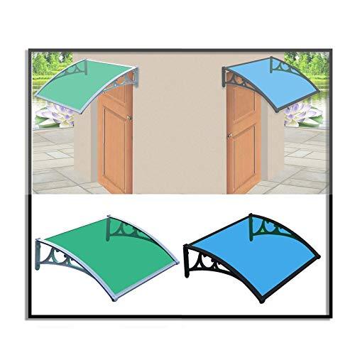 Eaves Marquesinas para puerta, ventana, toldo, toldo para porche con soporte, cubierta superior, puerta delantera, patio exterior, protección solar, UV, hoja de protección contra la lluvia y la nieve