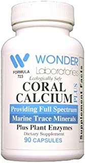 Pure Marine Coral Calcium Wonder Laboratories Coral Calcium is Cesium Free - 90 Capsules #7231