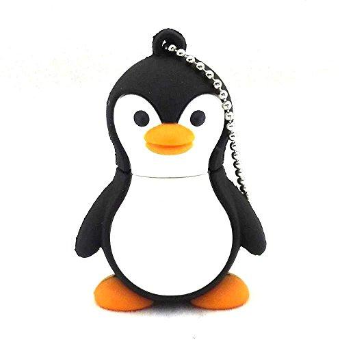 USB-Speicherstick mit Pendrive, Tier-Cartoon-Motiv, 16 GB, Schwarz, von Aneew 16GB pinguin