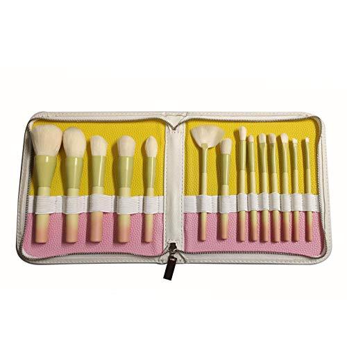 Lot de 14 pinceaux de maquillage professionnels avec poignée de couleur dégradée