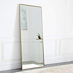 """SIZE: Full size, 65""""x22"""", large enough for you to see your entire figure in a single glance. FRAME: Aluminum alloy frame, gold color, elegant. Very thin frame (only 0.16"""" wide on front), wire drawing treat, simpler and more textured. No discoloration..."""