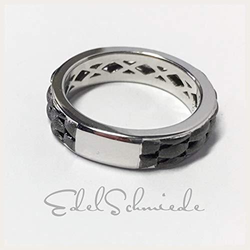 moderner Bandring in 925/- Sterling Silber rutheniert #59