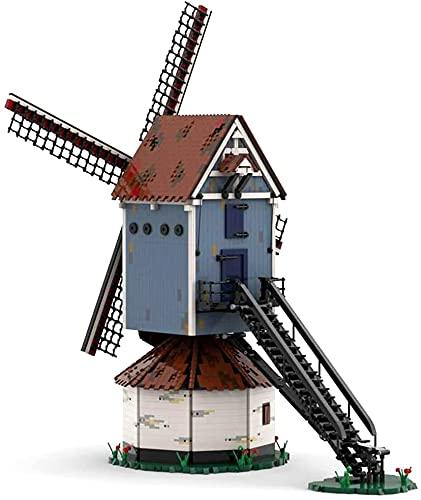 Molino de viento para Lego modelo compatible con Molino de viento, MOC DIY Creative Construction Collection Arquitectura Construcción Juguete de construcción, MOC-79791 (4366 piezas)