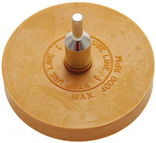 BGS 3999 | Folienradierer | Ø 90 mm | inkl Adapter | für Bohrmaschinen, Akku-Schrauber, Geradschleifer