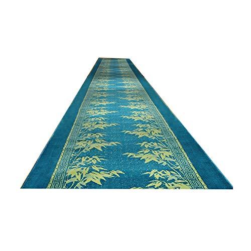 Alfombras Pasillo Largas Entrada Alfombras De Corredor Alfombra Pasillo Pasillera 10mm Resistente A La Suciedad Lavable Verde Y Azul (Color : B, Size : 80x600cm)