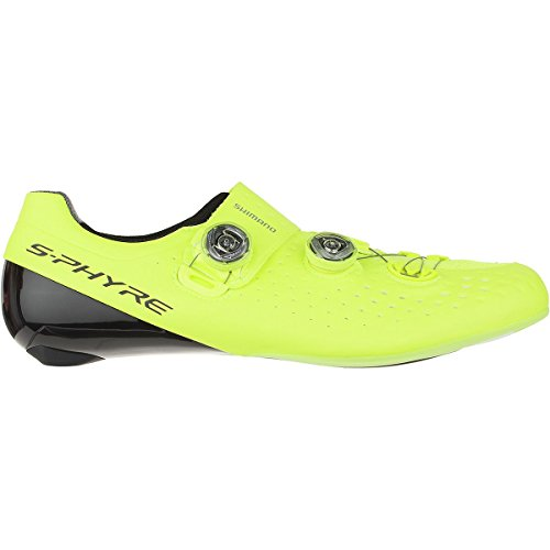 SHIMANO Sh-rc9 S-PHYRE Bicycle Shoe - Men's Yellow, 44.0