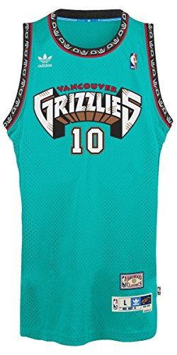 adidas Mike Bibby Vancouver Grizzles NBA Throwback Swingman Jersey Maglia - Teal