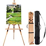 MEEDEN Tripod Field Painting Easel with Carrying Case - Solid Beech Wood Universal Tripod Easel Portable...