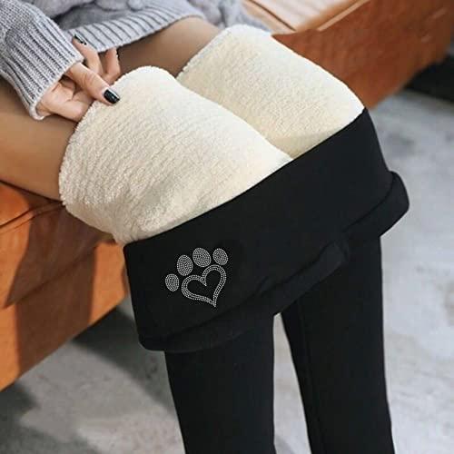 Thermoleggins - Pantalones térmicos de invierno para mujer, con forro, largos, cintura alta, pantalones de forro polar