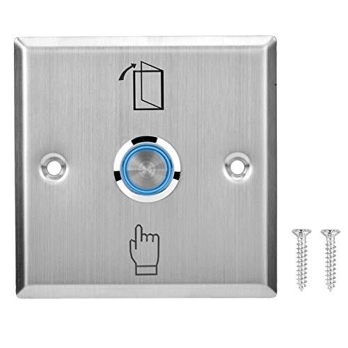 Interruptor de botón de liberación de la Puerta, botón de Salida, presione el Interruptor de liberación Resistencia a la abrasión El Sistema de Control de Acceso se Puede Usar Solo Adecuado