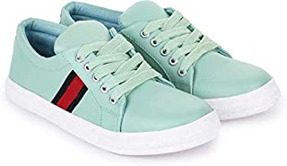 KRAFTER Women's/Ladies/Female's Synthetic Leather (PU) White/Casual Shoes/Casual Sneakers/Casual Shoes/College Shoes Shoes/Sneaker