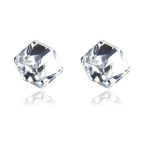 Pendientes unisex de diamantes de imitación geométricos sin orificios para las orejas Pendientes magnéticos para el cuidado de la salud Terapia de espárragos de acupuntura estimulantes saludables