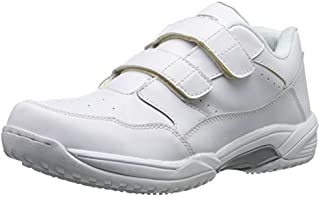 ADTEC Men's White Lace Work Shoe - Slip Resistant, Breathable, Comfortable + Affordable