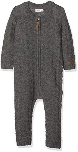 NAME IT NAME IT Baby-Jungen NMMWRILLA Wool LS Knit Suit NOOS Spieler, Grau (Dark Grey Melange Dark Grey Melange), 92