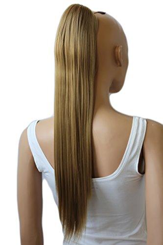 PRETTYSHOP 60cm Haarteil Zopf Pferdeschwanz Haarverlängerung Glatt Sandblond H612