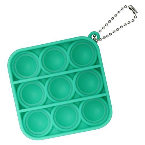 YAQI Juguete simple para fidget de hoyuelo, juguetes sensoriales para autismo, juguetes para aliviar la ansiedad para niños y adultos, aliviar el estrés de oficina de escritorio llavero de juguete