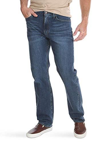 Wrangler Authentics Men's Big & Tall Classic 5-Pocket Regular Fit Jean, Blue Ocean Flex, 46W x 34L