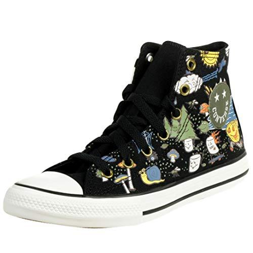 Converse Camp Chuck Taylor High Top Kinder Unisex Sneaker 667527C Schwarz, Schuhgröße:38 EU