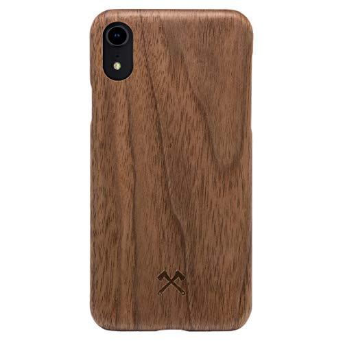 Woodcessories - Handyhülle kompatibel mit iPhone Xr Hülle Holz, Echtholz - EcoSlim Hülle (Walnuss)