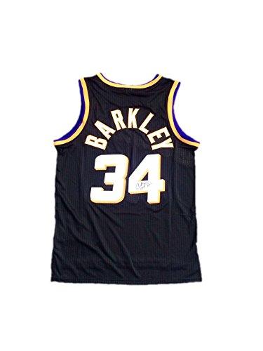 Autographed Charles Barkley Jersey - Alternate Black - JSA Certified - Autographed NBA Jerseys