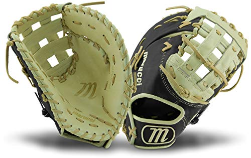 Marucci MFGFS13001B-BK/CM-LH Founders' Series Baseball Fielding Gloves, Camel/Black, 13'