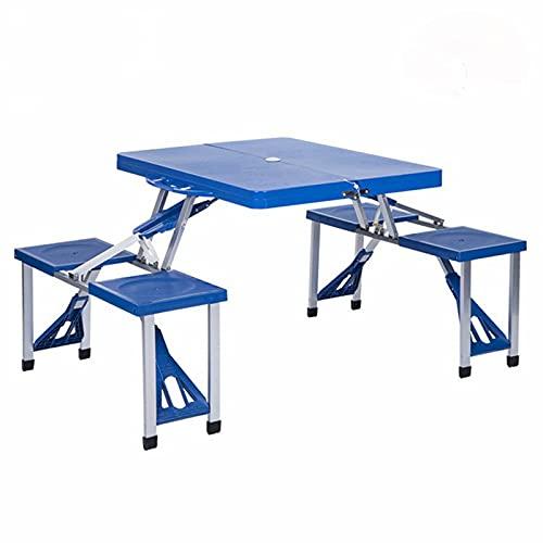 LWZ Mesas y sillas Plegables de plástico, mesas y sillas de Ocio al Aire Libre, sillas Ligeras y portátiles para Acampar, picnics Deportivos, Senderismo en la Playa y Pesca