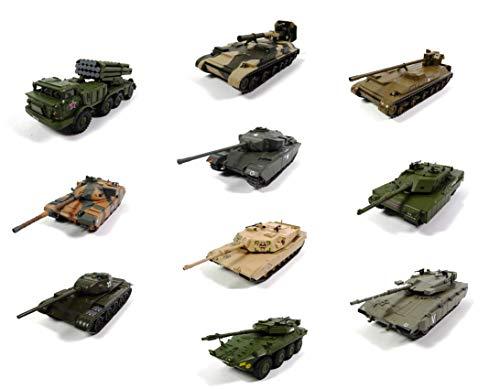 - Lotto di 10 Veicoli Militari 1/72 T-44 B1 CENTAURO Abrams TYULPAN GIATSINT Chieftain MERKAVA Centurion - Carri Armati WW2 (RIF: 04)