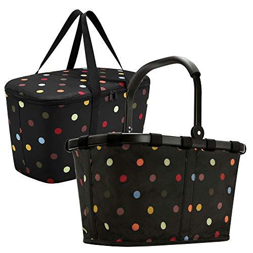 Reisenthel carrybag Sonderedition Black Frame dots und coolerbag dots im Set